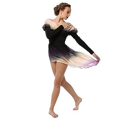 c233cc7ac233 Amazon.com: Alexandra Collection Womens Belle Long Sleeve Skirted Lyrical  Dress Dance Costume: Clothing
