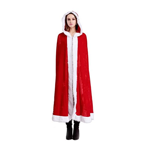 Capa de la Navidad del traje de Papá Noel con capucha Cabo ...