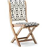 Solid Wood Frame Prints Patterns Conveinently Foldable Chair