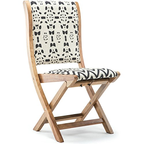 Solid Wood Frame Prints Patterns Conveinently Foldable Chair by Foldable Chair