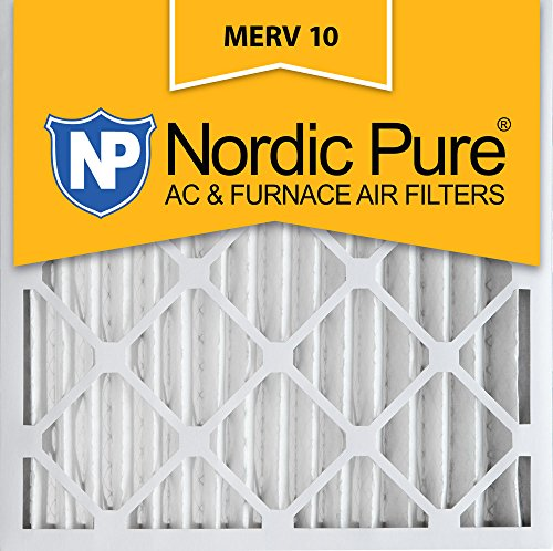Nordic Pure 20x20x2 MERV 10 Pleated AC Furnace Air Filter, Box of 3 (Furnace Filter 20x20x2 compare prices)