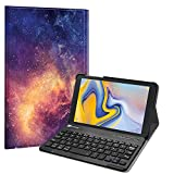 Fintie Keyboard Case for Samsung Galaxy Tab A 8.0 2018 Model SM-T387 Verizon/Sprint/T-Mobile/AT&T, Slim Shell Lightweight Stand Cover with Detachable Wireless Bluetooth Keyboard, Galaxy