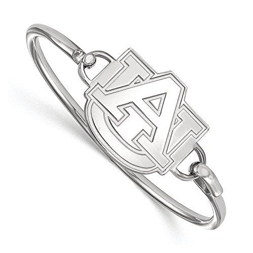 NCAA Sterling Silver Auburn University Lg Logo Bangle, 8 inch by LogoArt