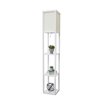 Simple Designs Home Lf1014 Wht Etagere Organizer Storage Shelf Linen