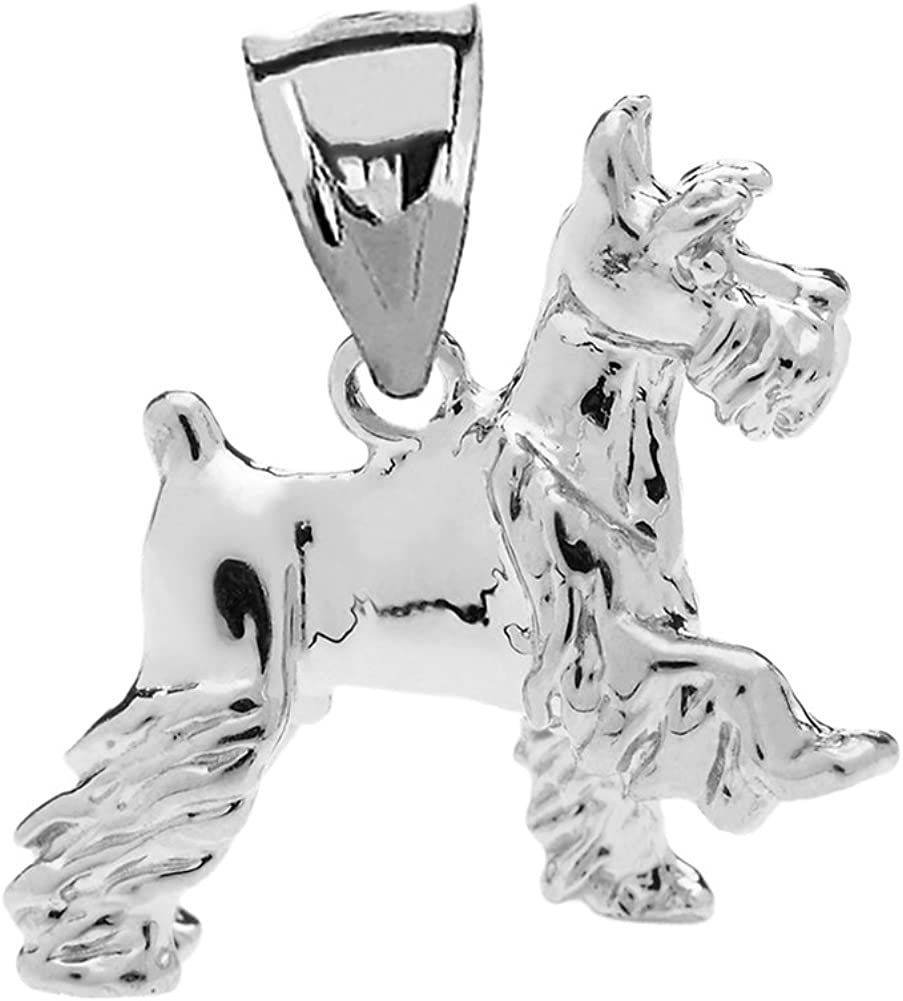 Sterling Silver Mini Lined Number Five 5 Charm