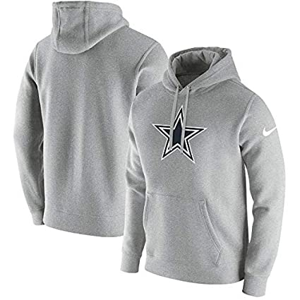 premium selection e9910 1e7ff NIKE Dallas Cowboys Men's Gray Club Fleece Pullover Hoodie