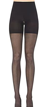 5220d63faa700 SPANX Patterned Tight End Tights Pucker Up (2141) E/Black at Amazon ...
