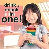 Zak Designs Minnie ZakSnak All-In-One Drink Tumbler