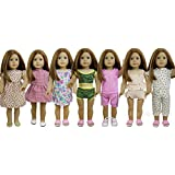 "ZITA ELEMENT 7 Sets Doll Clothes for American Girl Doll | Dress, Pajamas, Underwear for 18"" Dolls"