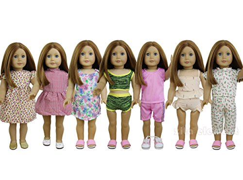 ZITA ELEMENT 7 Sets American Girl Doll Clothes   Dress, Paja