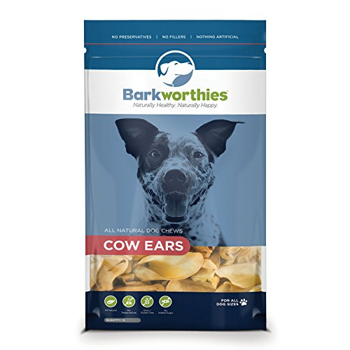 Barkworthies 10-Pack Cow Ears Chew For Pets