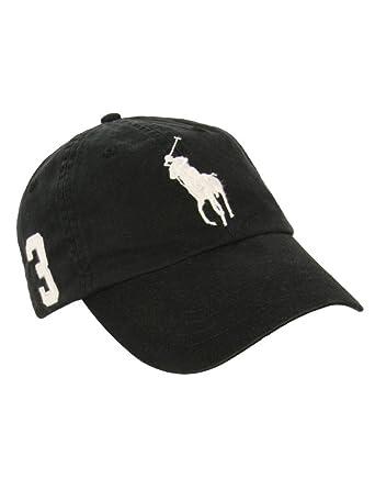 Ralph Lauren - Casquette avec logo grand poney - noir - homme ... 79dd86246dc
