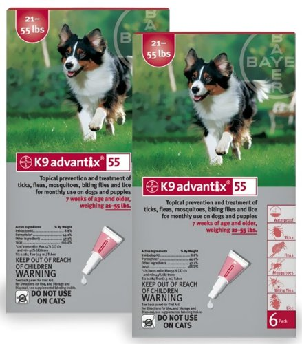 12 MONTH K9 ADVANTIX Red (for dogs 2155lbs)