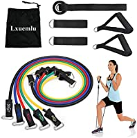【2019 Upgraded】 Resistance Bands Set, Lxuemlu Exercise Bands with Handles, Door Anchor, Ankle Straps and Workout Guide - ...