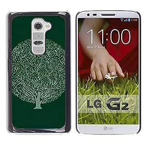 iKiki Tech / Estuche rígido - Green Ball Drawing Ink Nature - LG G2 D800 D802 D802TA D803 VS980 LS980