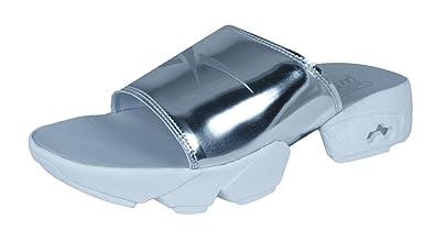 1c130a70b Reebok Fury Slide Magic Hour Womens Sandals-Silver-5