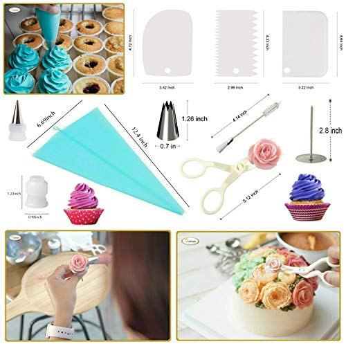 Whryspa All-in-One Cake Decorating Kit Supplies with Revolving Cake Turntable, 24 Cake Decorating Tips, for Cake Decoration Baking Tools by Whryspa (Image #4)