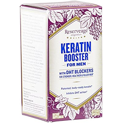 Reserveage - Keratin Booster for Men with DHT Blockers, Supports the Maintenance of Healthy & Youthful Hair, 60 vegetarian capsules