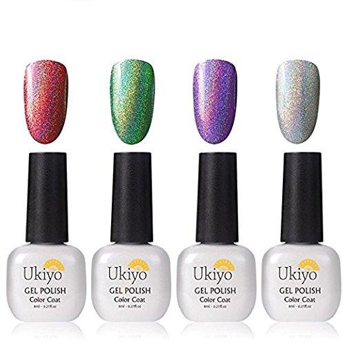Ukiyo 4pcs Gel Nail Polish Set Rainbow Series Soak off UV LE