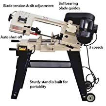Bolton Tools BS-115 Horizontal/Vertical Bandsaw 4 Inch x 6 Inch Metal Cutting Portable Band Saw