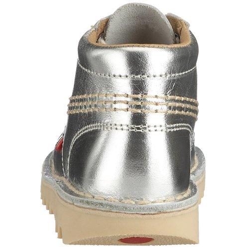 Kickers Core Classic - Botas, Niños Plateado (silver/natural)
