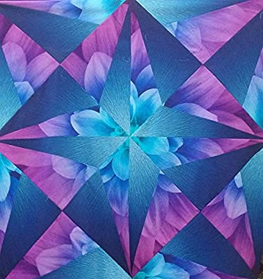 Fabric Kit~Nova Star~Using Aurora Dream Big Panel and Sapphire Supernova by  Hoffman Fabrics