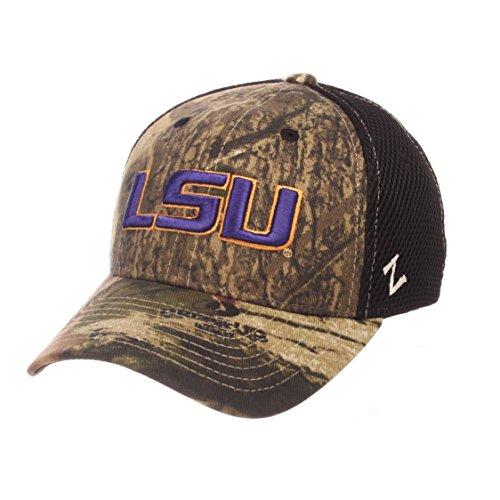 NCAA LSU Tigers Adult Men Terrain Cap, Medium/Large, Mossy Oak (Lsu Tigers Camo)