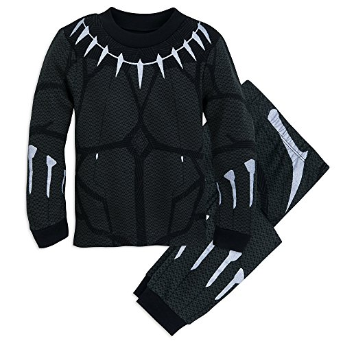 Marvel Black Panther Costume PJ Pals Set for Boys Size 7 Multi -