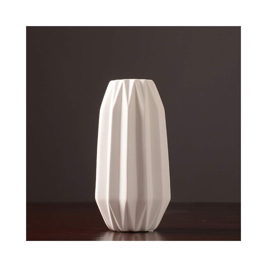 白いセラミック花瓶装飾現代のクリエイティブファッションフラワーアレンジメントフラワーテーブルダイニングルームのリビングルームの装飾 (Size : 15cm*29cm) B07STDSW9D  15cm*29cm