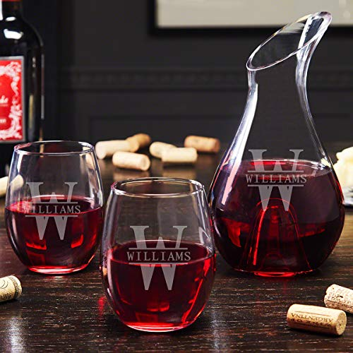 Oakmont Personalized Wine Decanter and Glasses (Custom Product)