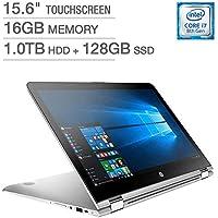 HP ENVY x360 15t Touchscreen 2-in-1 Laptop Intel i7-8550U 16GB RAM 1TB HDD + 128GB SSD IPS WLED-backlit FHD (1920 x 1080) Display Backlit Keyboard with Numeric Keypad