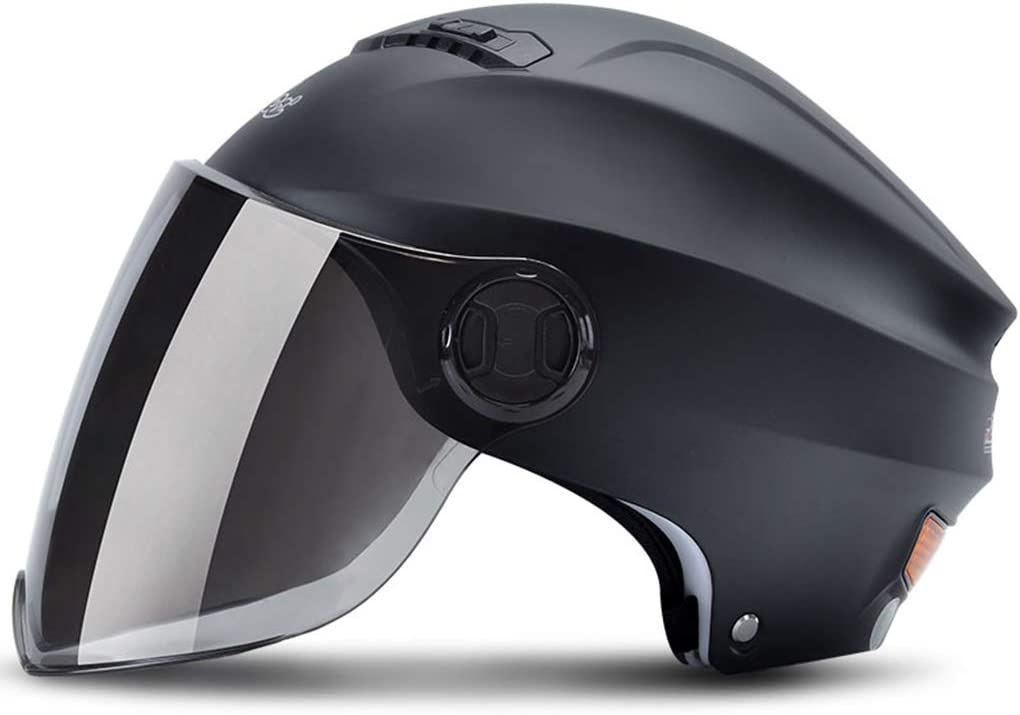 F/ür Erwachsene Einstellbar Damen Herren LTOOTA Jet Helm Motorrad Helm Roller Helm Scooter Helm Bobber Mofa Helm Chopper Retro Cruiser Vintage Pilot Biker ECE Visier