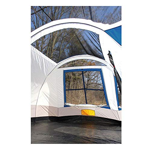 Tahoe Gear Gateway 12-Person Deluxe Cabin Family Camping Tent, Navy Blue