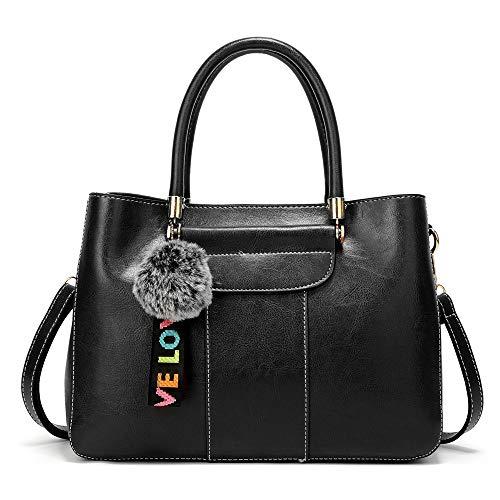 señora una de hombro de Bolsos bolso lanzado la moda honda grande del del bandolera de mujeres negro del bolso cdnb las con la Bolso 8ZqwCw1