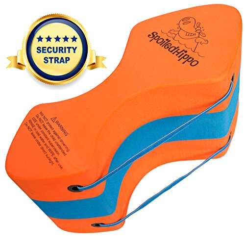 SpoiledHippo Pull Buoy (with Security Strap) Pull Float, Swimming Training Aid for Professionals, Adults and Kids, Men and Women