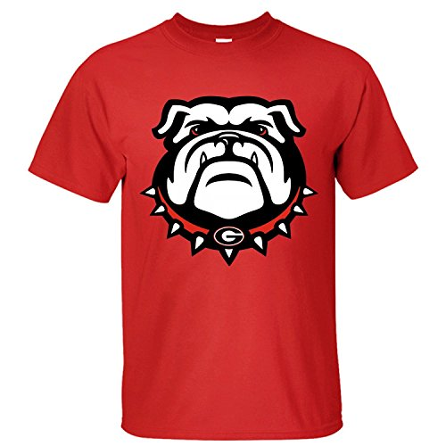 Xxl Bulldog - WOEO Men's Georgia Bulldogs (9) Cotton Short Sleeves T-shirts red XXL