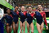 Women's Gymnastics Olympic Team USA Simone Biles Aly Raisman Gabby Douglas Madison Kocian Laurie Hernandez Sports Poster Photo Limited Print Sexy Celebrity Athlete . High quality professional glossy photo poster for all occasions. Great for g...