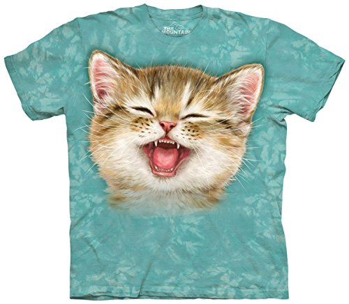 The Mountain Kitty Cat Expressions And Faces T-Shirt (LOL Cat, Small) - Kitten Face