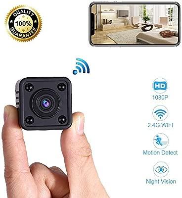 Mini Cámara Espía WiFi | Cámara de Vigilancia Inalámbrica Oculta IP con Sensor de Movimiento y Visión Nocturna | Aplicación para iPhone y Android