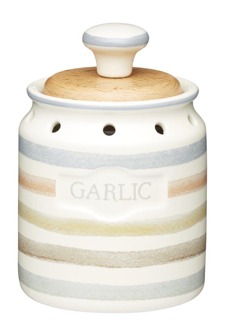 KitchenCraft Classic Collection Vintage-Style Ceramic Garlic Keeper Storage Pot, 8 x 13.5 cm (3