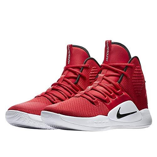 Nike Men's Hyperdunk X Team Basketball Shoe University Red/Black/White Size 9 M US