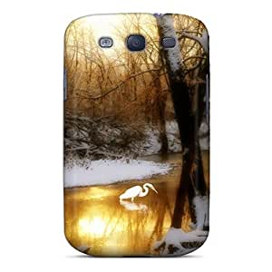 Fashion Protective Crane In Golden River Case Cover For Galaxy S3