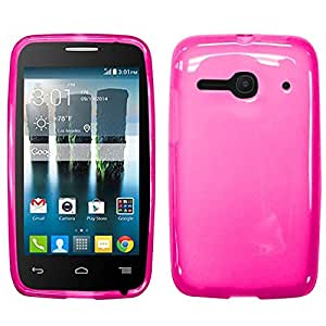 Zizo Alcatel One Touch Evolve 2 4037T TPU Cover - Retail Packaging - Hot Pink