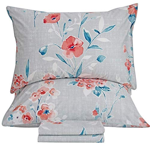 Queen's House Vintage Printed Bed Sheets Egyptian Cotton Bedding Sheets Queen - Sheets Vintage Queen Bed