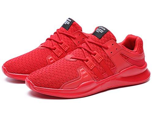 Casual Trainers Laufschuhe Fitnessschuhe Rot Sportschuhe Schuhe Damen Sport ONENICE Outdoorschuhe Indoor Running Atmungsaktives Sneakers Herren Turnschuhe txvwg1Yq