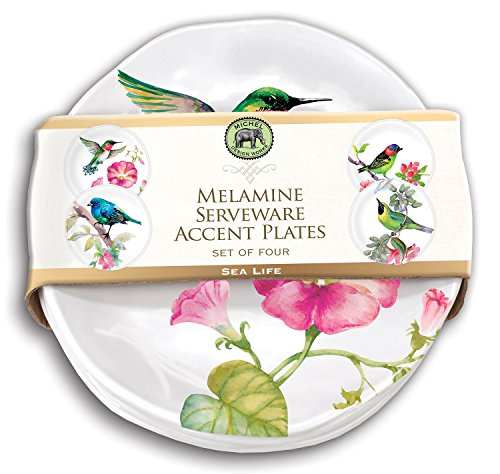 (Michel Design Works Bird Song Melamine Accent Plate Set (SWPS296))