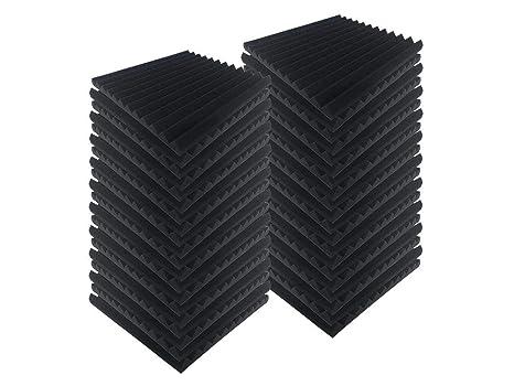 Acepunch 40 pcs NEGRO Tratamiento de Aislamiento Acústico de Espuma Acústica Estilo Cuña Múltiple 30 x