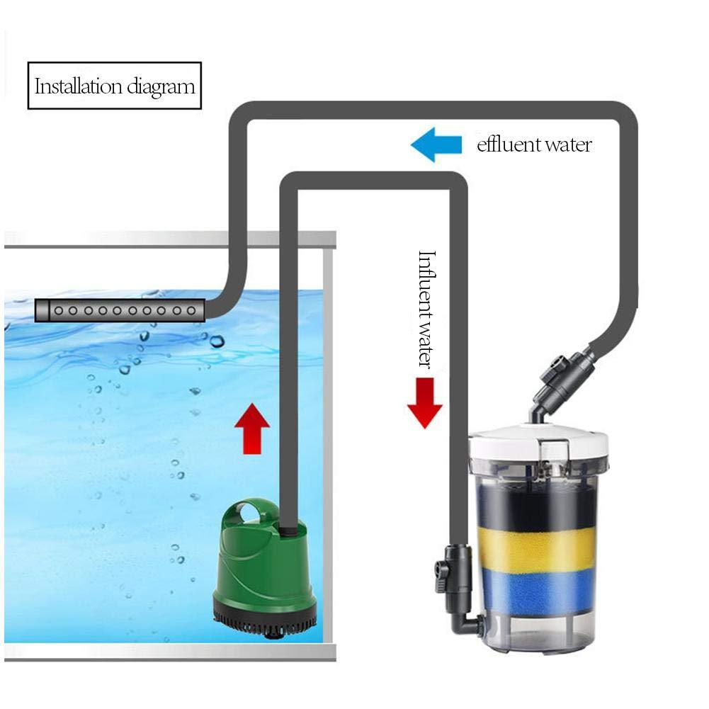talogca Filtro Profesional Acuario Filtro Externo de Mochila para Pecera,Ahorro de Energía: Amazon.es: Productos para mascotas