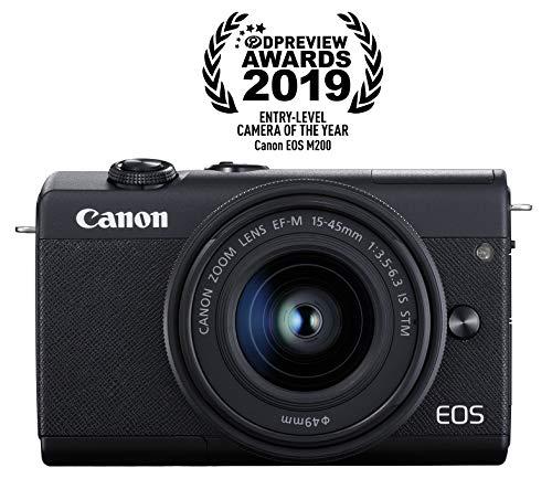 Canon EOS M200 EF-M 15-45mm is STM Kit (Black)