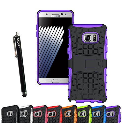 Galaxy Note FE Case, Galaxy Note 7 Case, MELOP Dual Layer Case Shell with [Kickstand] [Shock Absorption] Hybrid Armor Defender Protective Phone Case for Samsung Galaxy Note FE / Note 7 - Purple